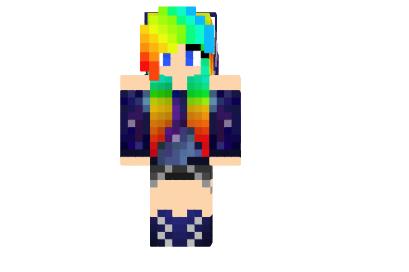 Miss Galaxy Skin For Minecraft Mod Minecraft Net