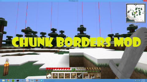 how to get chunk borders in minecraft