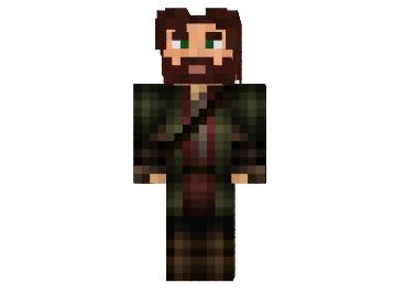 Скин Стив с бородой для Minecraft