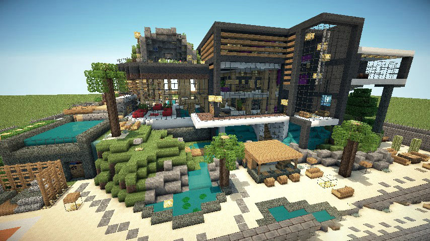 Minecraft Moderne Häuser minecraft house maps list of house maps in minecraft