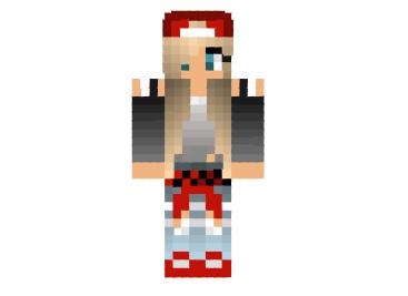 red girl teen skin modminecraftnet