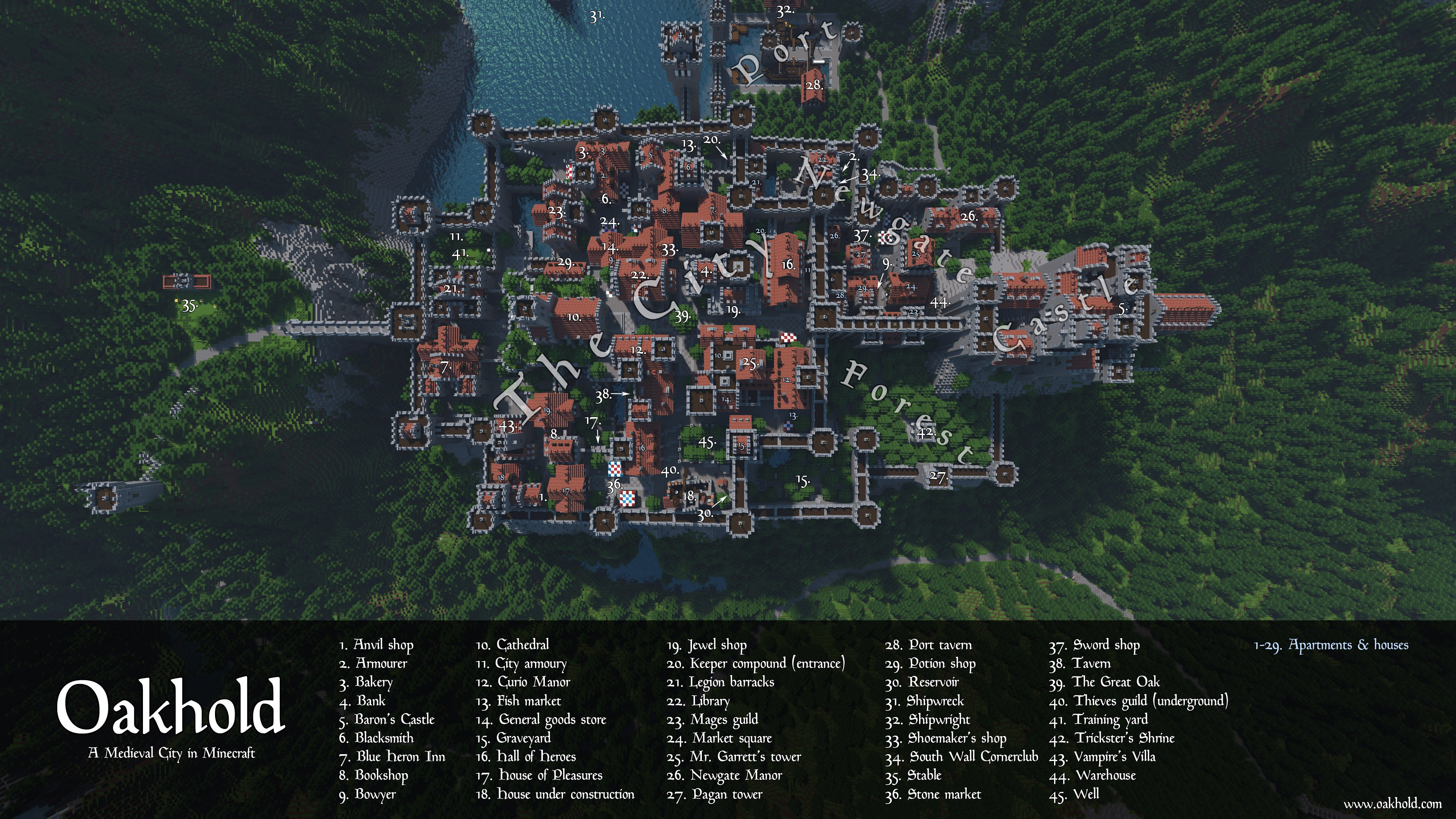 Minecraft City Maps | List of City Maps in Minecraft