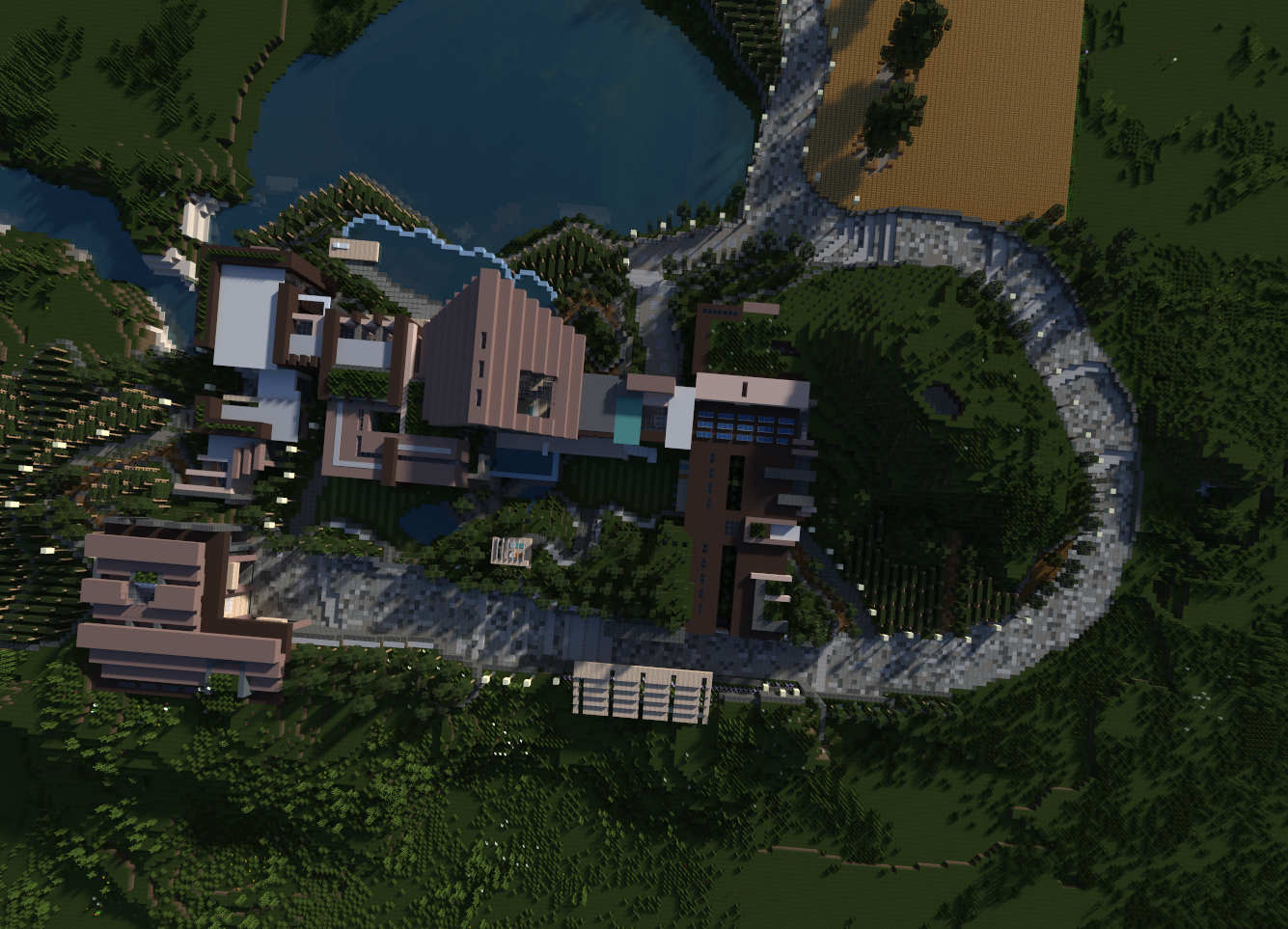 Lakeshore map 1 8 minecraft maps for Minecraft moderno